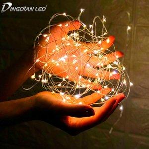 LED de fio de cobre Fariy USB / pilhas Garland Decoração 2M 5M festa de Natal do casamento 10M s