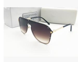 Nouvelles lunettes de soleil de designer de mode 2180 de grande qualité grand carré carrés ventes sans cadre simples style populaire lunettes de protection UV400