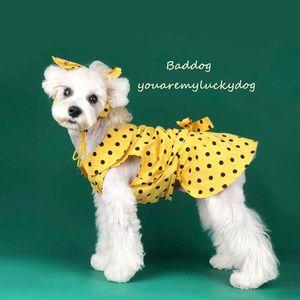 여름 유행 사랑스러운 애완 동물 드레스 세트 INS 스타일 인쇄 애완 동물 머리띠 야외 성격 매력 애완 동물 스커트 머리 장식