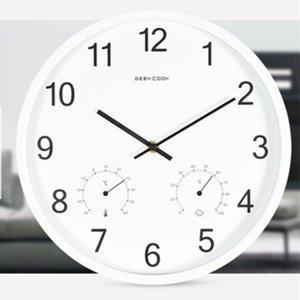 12 pouces moderne Minimaliste Cuisine Salon Horloge murale ronde silencieuse non-tic-tac Sweep seconde horloges avec Metal Frame