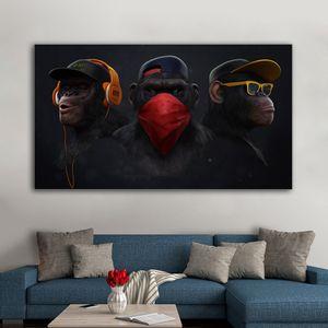 1 pièce Affiches animal gorille Résumé singe mur toile de peinture Art animal Art photos pour Living Room Chambre No Frame