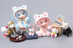 Xiong Chu Yin Initial Sound Future Hand-made MIKU Initial Clay Animation Hand-made Model Toy Snow First Sound GK Initial Sound