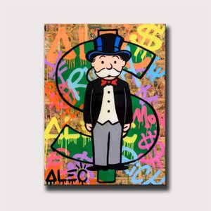 Alec Monopoly Dollar Sign Statue,HD Canvas Printing New Home Decoration Art Painting (Unframed Framed)