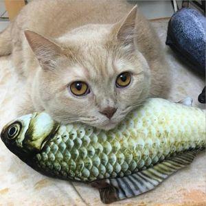 Интерактивная Fancy Cat Игрушка рыбы Cute Pet Кошки Зубы Catnip игрушки форме рыбы Cat подушки плюша Спящий Подушка Животные Supplies Gadget DBC BH2862