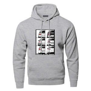 Yenilikçi GTR Araba Kapüşonlular Erkekler Karikatür Komik Skyline Grafik Kapşonlu Sweatshirt Hoodie Streetwear Harajuku Egzersiz Spor Giyimi yazdır
