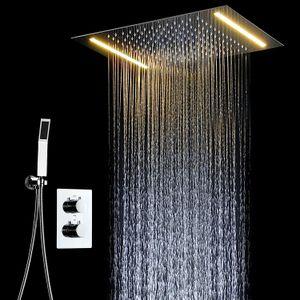 Multi-funcional LED Banho Duche Set Acessórios Faucet Painel Tap água quente e fria LED Mixer teto Chefe chuvas Cachoeira Duche