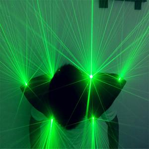 T22 trajes de dança de salão verde luz laser robô terno dj colete jaqueta de ombro vermelho óculos party bar club desempenho show de palco usa dj