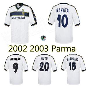 2002 2003 بارما بعيدا الرجعية لكرة القدم جيرسي 02 03 ناكاتا ادريانو جيلاردينو موتو خمر كلاسيك قميص كرة القدم القديم