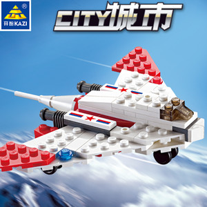 Kid toy 80+pcs J-10 & J-13 the city cruiser plane series block toy for child block gift 03