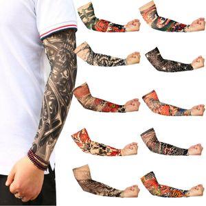 1 PC falso tatuaggio temporaneo manica del braccio Morte Skull Clock Croce impermeabile Uomini Lot