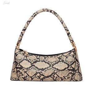 Damen-Schlange-Muster Baguette-Beutel-Art Einfache Handtaschen-beiläufige Schulter-Beutel-T2