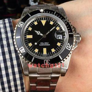 Clásica para hombre Relojes de los hombres de la vendimia No Fecha Movimiento mecánico automático Mate Dial copo de relojes de pulsera de acero banda reloj Relojes
