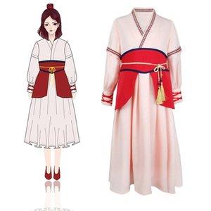 Древнекитайской костюм девушки принцессы Мулан платье косплей Фрок Kids Party Halloween Одежда Дети Ролевые игры Мулан Платье