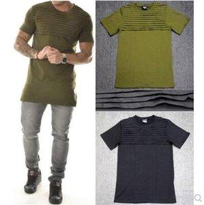 exército homens motociclista t-shirt verde ganhos do rapper de algodão de alta qualidade T-shirt Men roupas