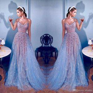 2020 Elie Saab Abiye Dantel Dubai Ünlü Sweetheart Boncuk Illusion Uzun Balo Abiye A Hattı Formal Yarışması Elbise