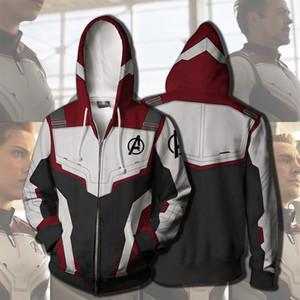 Avengers Endgame Quantum Royaume Sweat Veste Advanced Tech Broderie À Capuche Costumes Du Cosplay costumes