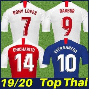 2019 2020 Marcos Lopes camiseta de fútbol de local blanco DE JONG Chicharito EVER BANEGA jersey de fútbol aficionados uniformes L.OCAMPOS Reguilon OLIVER.T Dabbur