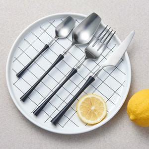 Spklifey Yemek Seti Paslanmaz Çelik Çatal Gümüş Yemek Kaşığı Bıçak Çatal Çay Kaşığı Setleri Sofra Bıçak Çatal Kaşık Seti