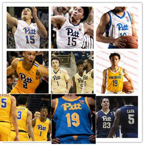 Personalizzato Pitt Panthers Basket Blayball Jersey 5 Au'diese Toney 12 Joe Mascaro 15 Kene Chukwuka 21 Terrell Brown 24 Samson George Pitt Jersey