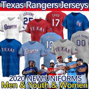 Texas Joey Gallo Jersey 17 Shin-soo Choo Danny Santana Elvis Andrus Rougged Odor Nomar Mazara Delino Deshields 2020 New Season Jerseys