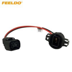 FEELDO 10pcs H16 / 5202/2504 / PSX24W Uzatma Kablo Tesisatının Kadın / Erkek Yuva Bağlayıcı İçin Sis Farlar Kablolama Güçlendirme