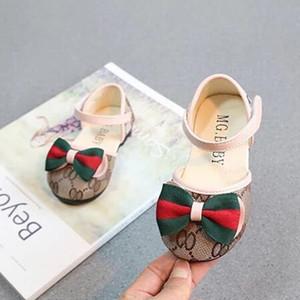 Nuovo arrivo al dettaglio Autunno Neonate Scarpe antiscivolo Comode primi camminatori Classic Bow principessa scarpe per ragazza