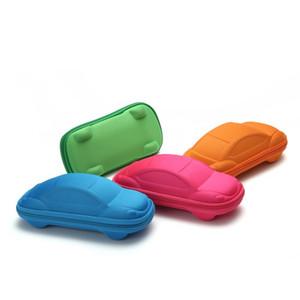 새로운 자동차 모양의 아이 안경 케이스 순수한 컬러 귀여운 선글라스 상자 어린이 선물 선물 주최자 지퍼 1 9ky E1