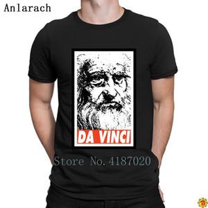 Erkekler Yuvarlak Yaka Komik Casual Üst Kalite Tasarımı için Da Vinci Tişörtler web siteleri Normal Kostüm Tişörtlü