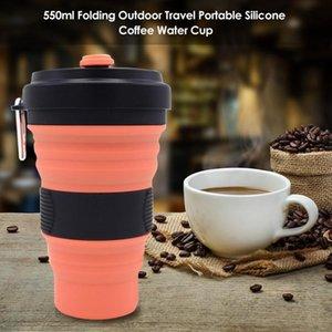 Durável Camping Cup resistente ao desgaste 550ml Folding Cup Exterior Água Portátil Bebida dobrável Café