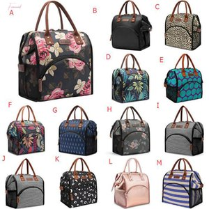 Portable Lunch Bag Simple Outdoor Picnic Canvas Large Capacity Insulation Handbag Meal Bag Picnic Cooler Lancheiras L10