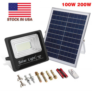 Nuovo Solar LED Street Light 20W 30W 40W 50W 100W 200W ad alta luminosità 3030 LED IP65 Solar Solar Solar Light