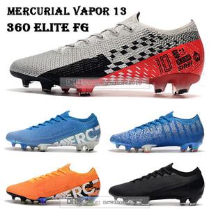 Mens Low tobillo botas de fútbol Mercurial vapores XIII 360 Elite FG Calzado de fútbol Neymar NJR ACC Superfly 13 SHHH FG Botines de fútbol