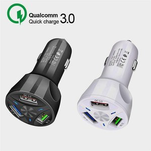 Car charger QC3.0 Quick Charger 3 USB Port Fast Car Charger CE FCC ROHS Certified for samsung Samsung Huawei Tablet