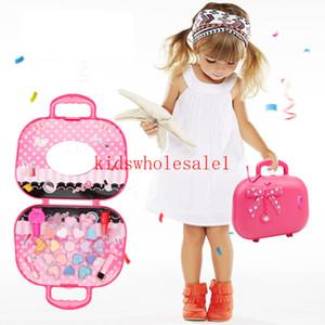 Fille Pretend princesse maquillage COFFRET Coffre-toxiques Enfants Maquillage voyageuses Costume cosmétique jouet pour les enfants cadeau d'anniversaire