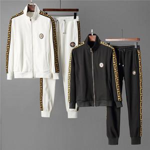 New 2019 Men's luxury full zip designer tracksuit man medusa sport suit Men jogger set fashion mens hoodies sweatshirts outdoor sportswear
