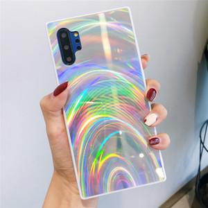 3D Радуга Блеск телефон чехол для Samsung Note 10 S10 S9 + A51 случаев Голографической Prism лазера Обложка для A7 2018 A50 A20S S20 Plus