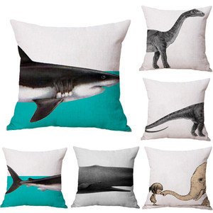 Baleia elefante Tubarão Dinossauro Neck corpo Pillowcase Lençois Viagem Almofadas Tampa Couch Almofada Throw Pillow Home Decor