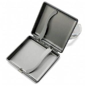 Porta cigarrillos de cuero y aleación 20 piezas Caja de cigarrillos económica Contenedor automático Contenedor Hombre y mujer Portátil Nueva llegada 5ljH1