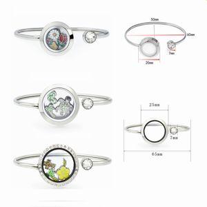 fascino 10pcs dell'acciaio inossidabile 316L 20mm / 25 millimetri d'argento di colore galleggiante Medaglioni Living Memory Locket braccialetti del braccialetto 20pcs