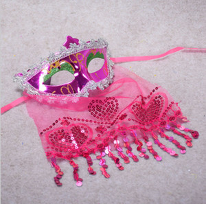 2019 Mysterious Veil Cosplay Mask Halloween Masquerade Venice Belly Dance Veil Máscara para Carnival Dance Party Dance Veil Máscara Cara