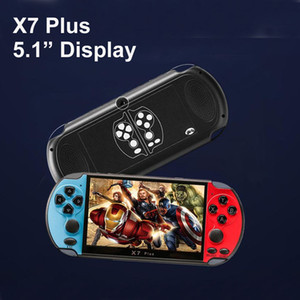 NEW 8GB X7 PLUS Handheld Game Player 5.1 Inch Large PSP Screen Portable Game Console MP4 Player with Camera TV Out TF Video for GBA NES Game