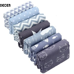 Gray Color Printed Series Quilting Cotton Fabric Meter Sewing Tissues Of Kids Bedding Skirt Home Textile DIY Patchwork 160*50CM