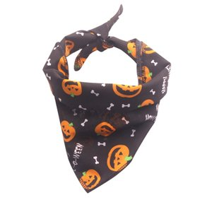 Halloween Bib pet saliva towel Halloween with kitten dog costume puppy decorative hat home pet to prevent dirty things triangle