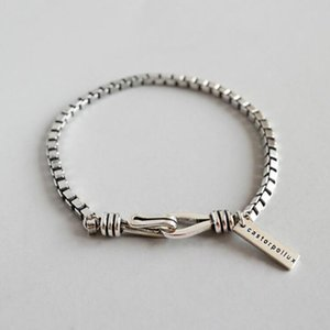 European Style Simple Fashion Thick Box Geometric Silver Charm Bracelet Jewelry For Women Suitable For Any Occasion