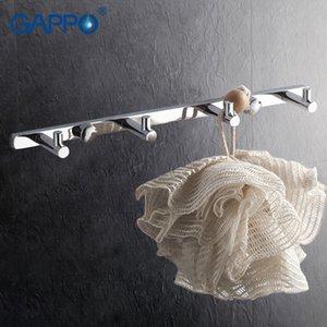 Gappo 1 juego de alta calidad 4 ropa del gancho de montaje en pared Ganchos Escudo sombrero torre de colgar titular zircalloy suspensión de la toalla de baño GA202-4