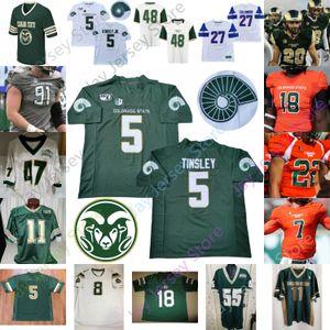 2020 Colorado Eyalet Futbol Jersey NCAA Kolej Toby McBride Patrick O'Brien McElroy Thomas Hicks Carta-Samuels Matthews Williams Stouffer
