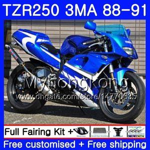 YAMAHA TZR250RR TZR-250 TZR 250 88 89 90 91 Gövde 244HM.39 için Kit Açık mavi tam TZR250 RS RR