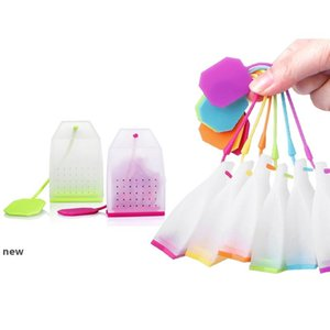 Bag Shaped Tea Infuser Popular Bag Style Silicone Tea Strainer Herbal Spice Filter Diffuser Kitchen Home slimming tea Infusers MMA2632-22