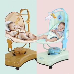 Bebé inteligente silla mecedora eléctrica para niños mecedora automática con ruedas fácil de mover silla eléctrica