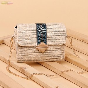 New 2020 Woven Bohemian Straw Bags Fashion For Women Beach Handbags Summer Vintage Rattan Bag Handmade Kintted Crossbody Bag Hot
